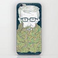 Hipster Beards iPhone & iPod Skin