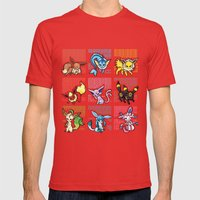 Eeveelutions Mens Fitted Tee Red SMALL