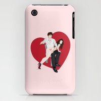 iPhone 3Gs & iPhone 3G Cases featuring spanky panky (pink) by Ruffles and Restraints