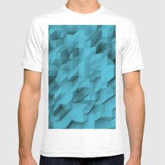 low poly texture Mens Fitted Tee White SMALL