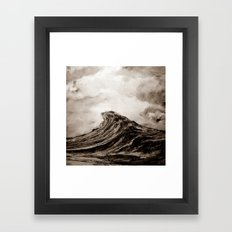 The WAVE - sepia Framed Art Print