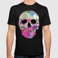 Skull collage Mens Fitted Tee Tri-Black SMALL