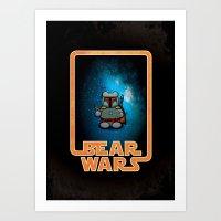 Bear Wars - Bobba Furry Art Print