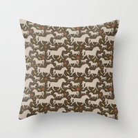 Ponies, Carrots, Pepperm… Throw Pillow