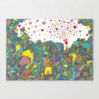 ハートのしゃぼん… Canvas Print