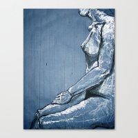 Ink Rain Canvas Print