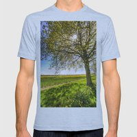 The Daffodil Summer Farm Mens Fitted Tee Athletic Blue SMALL