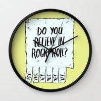 Believe In Rock & Roll Wall Clock