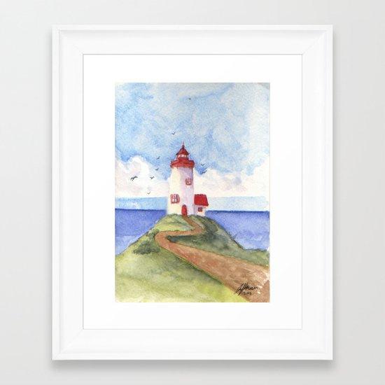 Peaceful Lighthouse Framed Art Print