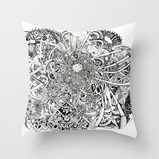 Inwards Throw Pillow