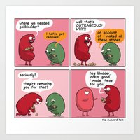 Kidney Makes The Pass Art Print