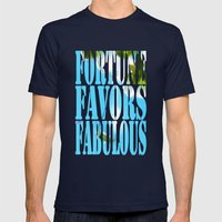 FORTUNE TELLER Mens Fitted Tee Navy SMALL