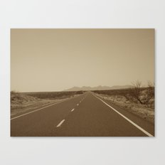 the road to Marfa Canvas Print