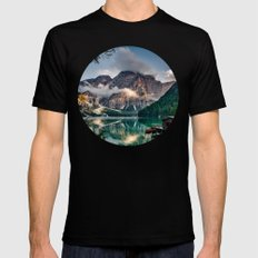 Italy mountains lake Mens Fitted Tee Black SMALL