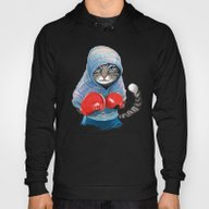 Boxing Cat Hoody