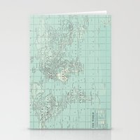Vintage World Map In Sof… Stationery Cards