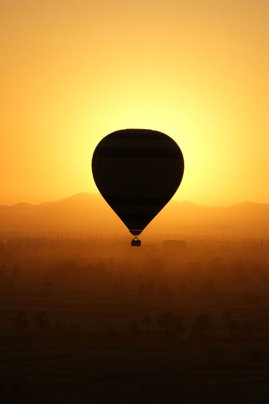 Balloon Over Valley of the Kings Art Print