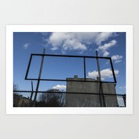Untitled, Empty Sign Fra… Art Print