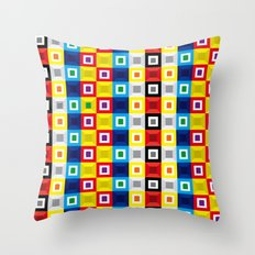 Squares Pattern Throw Pillow
