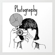 Photo Takes Woman Art Print