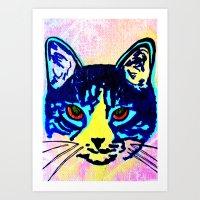 Pop Art Cat No. 2 Art Print