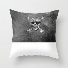 Black Pirate  Throw Pillow