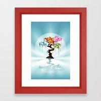 The Four Seasons Bubble Tree Framed Art Print