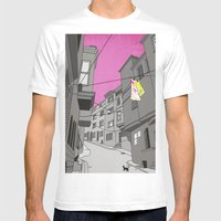 Historical Street View Mens Fitted Tee White SMALL