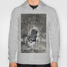 Music, microphone with floral elements  Hoody