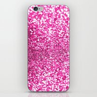 Pink Sparkles iPhone & iPod Skin