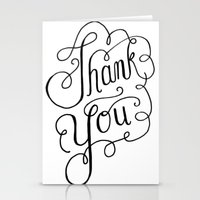 Thank You Hand Lettered … Stationery Cards