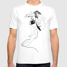 I swear SMALL Mens Fitted Tee White