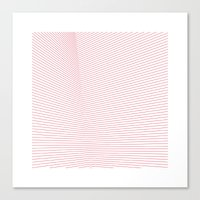 #66 Red space – Geometry Daily Canvas Print