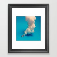 Overheated Pencil Sharpe… Framed Art Print