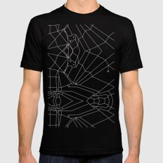 Webbed Unicorn V02 Mens Fitted Tee Black SMALL