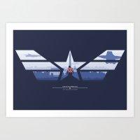 The Captain (Stars and Stripes) Art Print