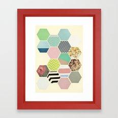 Florals and Stripes Framed Art Print