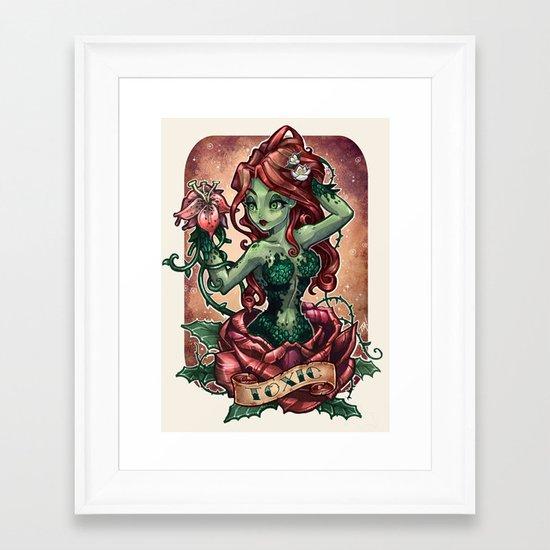 T O X I C Framed Art Print