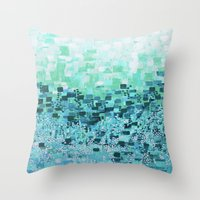 :: Sea Glass Compote :: Throw Pillow