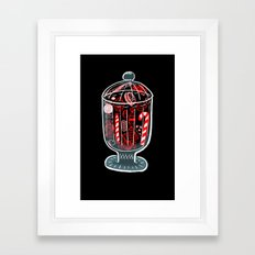 Holiday Candy Jar Framed Art Print