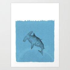 hammer shark Art Print