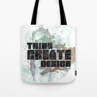 Think. Create. Design Tote Bag