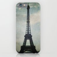 iPhone & iPod Case featuring Eiffel Tower in the Storm by Anna Delores