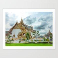 Bangkok Emerald Buddha temple Art Print