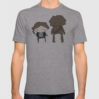 Han Solo & Chewie Mens Fitted Tee Athletic Grey SMALL