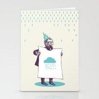 It's raining. Stationery Cards
