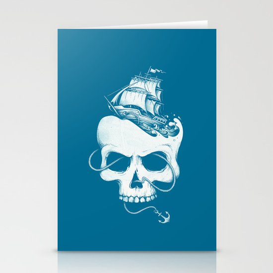 Sailing the Dead Sea Stationery Card