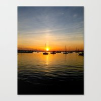 Newport Harbor Sunset Canvas Print