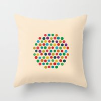 Circles Circle Throw Pillow