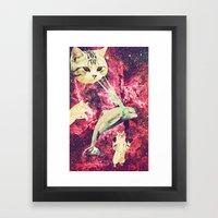 Galactic Cats Saga 2 Framed Art Print